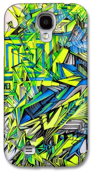 Abstract Digital Drawings Galaxy S4 Cases - Genesis Of Reality Galaxy S4 Case by The Door Project
