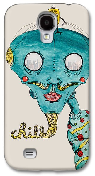 Ghetto Drawings Galaxy S4 Cases - Genie of Chill York Galaxy S4 Case by Virgil Angeles