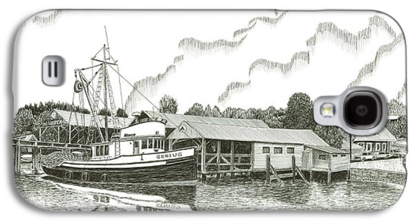 Boats At Dock Galaxy S4 Cases - Genius ready to fish Gig Harbor Galaxy S4 Case by Jack Pumphrey