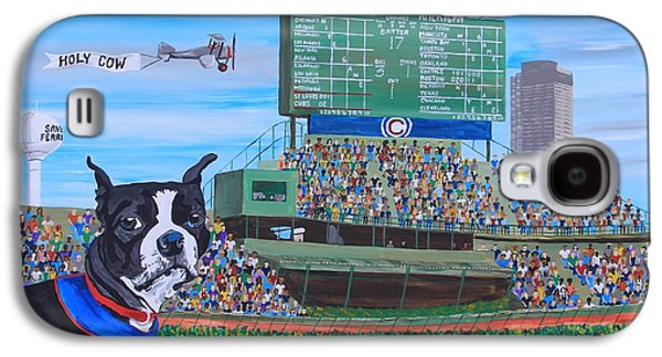 Bryant Paintings Galaxy S4 Cases - Geno at Wrigley 2014 Galaxy S4 Case by Mike Nahorniak