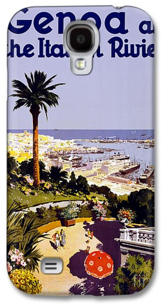 Genoa And The Italian Riviera - Travel Poster For Enit - 1931 Galaxy S4 Case by Pablo Romero