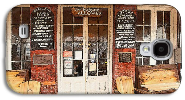 Laura Wrede Galaxy S4 Cases - Genoa Saloon Oldest Saloon in Nevada Galaxy S4 Case by Artist and Photographer Laura Wrede