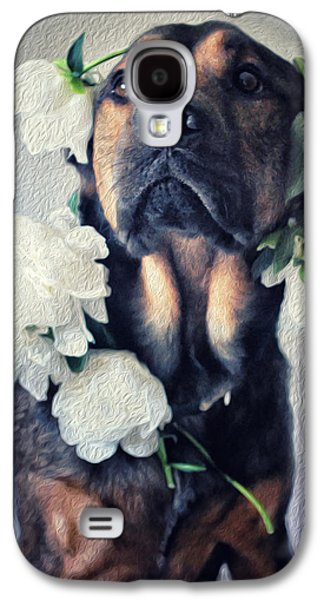 Puppy Digital Art Galaxy S4 Cases - Gentle Love Galaxy S4 Case by Starlux  Productions