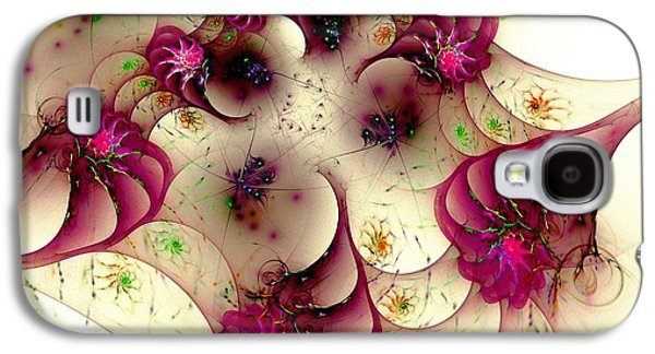 Abstract Digital Mixed Media Galaxy S4 Cases - Gentle Pink Galaxy S4 Case by Anastasiya Malakhova