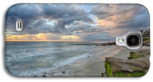 Beach Landscape Galaxy S4 Cases - Gentle Sunset Galaxy S4 Case by Peter Tellone