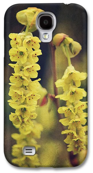 Texture Flower Galaxy S4 Cases - Gently Falling Galaxy S4 Case by Laurie Search