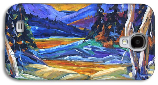 Canadiens Paintings Galaxy S4 Cases - Geo Landscape II by Prankearts Galaxy S4 Case by Richard T Pranke