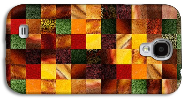 Geometric Abstract Quilted Meadow Galaxy S4 Case by Irina Sztukowski