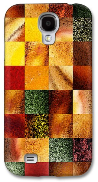 Sell Paintings Galaxy S4 Cases - Geometric Design Squares Pattern Abstract I  Galaxy S4 Case by Irina Sztukowski