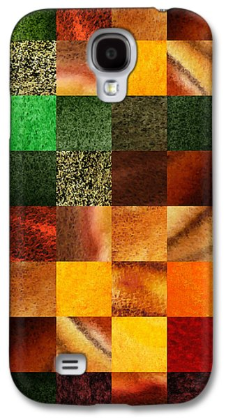 Sell Paintings Galaxy S4 Cases - Geometric Design Squares Pattern Abstract III  Galaxy S4 Case by Irina Sztukowski