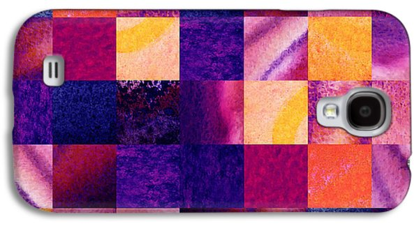 Sell Paintings Galaxy S4 Cases - Geometric Design Squares Pattern Abstract IV Galaxy S4 Case by Irina Sztukowski