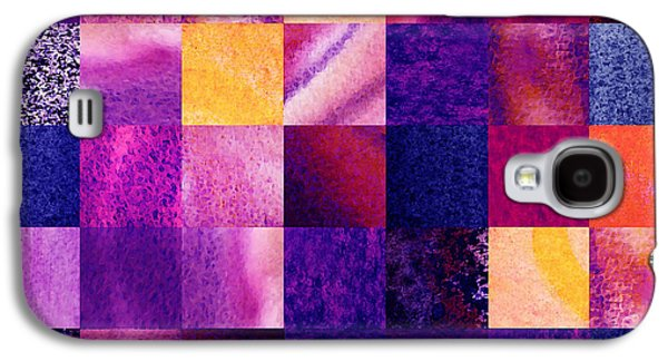 Abstract Digital Galaxy S4 Cases - Geometric Design Squares Pattern Abstract V  Galaxy S4 Case by Irina Sztukowski