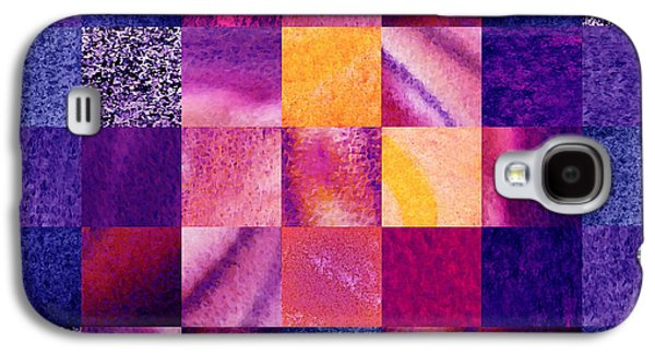 Sell Paintings Galaxy S4 Cases - Geometric Design Squares Pattern Abstract VI  Galaxy S4 Case by Irina Sztukowski