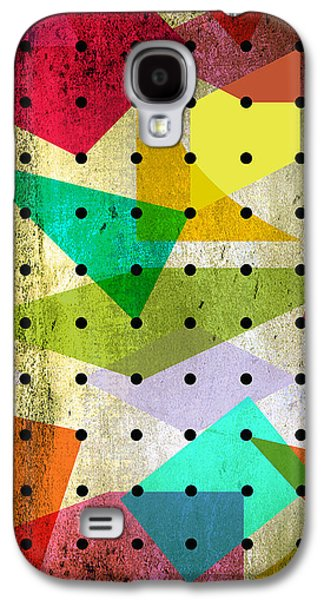 Surreal Geometric Galaxy S4 Cases - Geometric In Colors  Galaxy S4 Case by Mark Ashkenazi