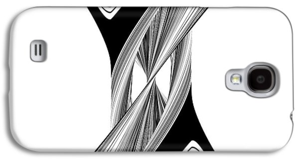 Concept Sculptures Galaxy S4 Cases - Geometric Twisted Hourglass Black And White Shape  Galaxy S4 Case by Nenad  Cerovic