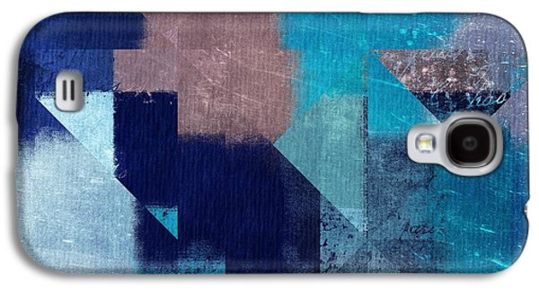 Blue Abstracts Digital Galaxy S4 Cases - Geomix 04 -05ac9t28a Galaxy S4 Case by Variance Collections