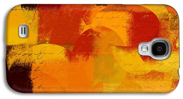 Orange Digital Art Galaxy S4 Cases - Geomix 05 - 01at01b Galaxy S4 Case by Variance Collections