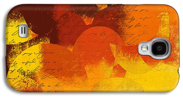 Orange Digital Art Galaxy S4 Cases - Geomix 05 - 01at02 Galaxy S4 Case by Variance Collections