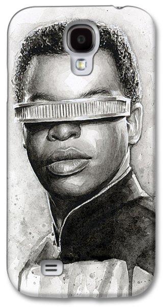 Star Trek Galaxy S4 Cases - Geordi La Forge - Star Trek Art Galaxy S4 Case by Olga Shvartsur