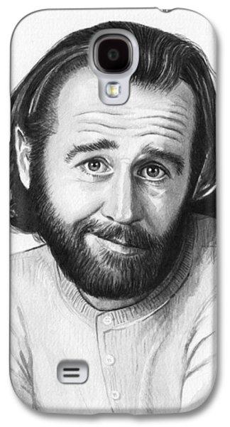 George Carlin Portrait Galaxy S4 Case by Olga Shvartsur