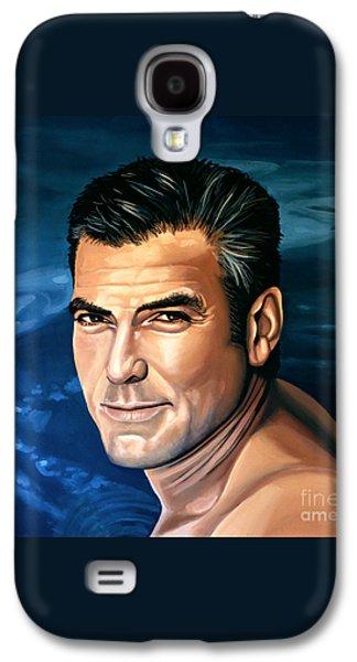 George Clooney 2 Galaxy S4 Case by Paul Meijering