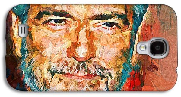 George Clooney Bright Portrait Galaxy S4 Case by Yury Malkov