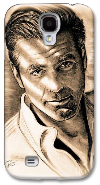 George Clooney Galaxy S4 Case by Gitta Glaeser