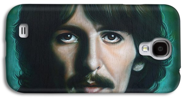 George Harrison Galaxy S4 Case by Tim  Scoggins