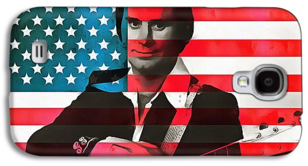 Stars And Stripes Mixed Media Galaxy S4 Cases - George Jones American Country Galaxy S4 Case by Dan Sproul