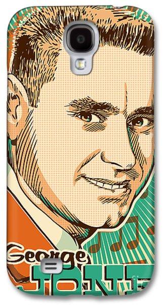 Western Digital Art Galaxy S4 Cases - George Jones Pop Art Galaxy S4 Case by Jim Zahniser