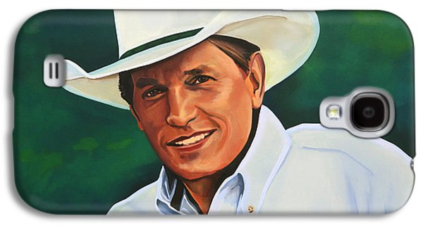 Box Galaxy S4 Cases - George Strait Galaxy S4 Case by Paul  Meijering