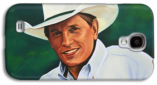 Work Of Art Galaxy S4 Cases - George Strait Galaxy S4 Case by Paul  Meijering