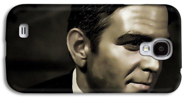 George Timothy Clooney Galaxy S4 Case by Lee Dos Santos