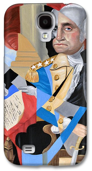 Constitution Galaxy S4 Cases - George Washington Galaxy S4 Case by Anthony Falbo