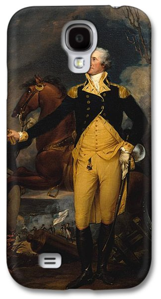 Independence Day Paintings Galaxy S4 Cases - George Washington Before the Battle of Trenton Galaxy S4 Case by John Trumbull