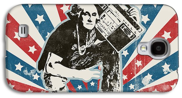 Reality Galaxy S4 Cases - George Washington - BoomBox Galaxy S4 Case by Pixel Chimp