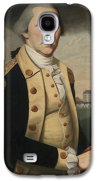 Gray Hair Galaxy S4 Cases - George Washington Galaxy S4 Case by Charles Peale Polk