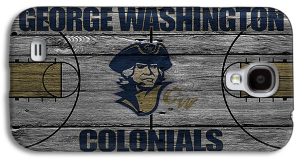 Dunk Galaxy S4 Cases - George Washington Colonials Galaxy S4 Case by Joe Hamilton