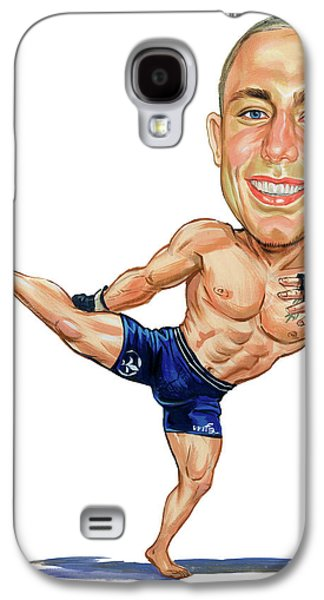 St George Galaxy S4 Cases - Georges St. Pierre Galaxy S4 Case by Art