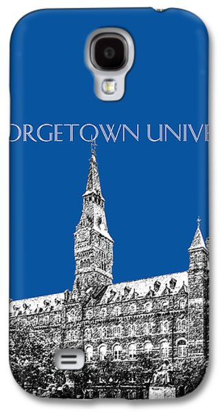 Universities Digital Art Galaxy S4 Cases - Georgetown University - Royal Blue Galaxy S4 Case by DB Artist