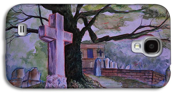 Headstones Paintings Galaxy S4 Cases - Georgia Graveyard  Galaxy S4 Case by Janet Felts