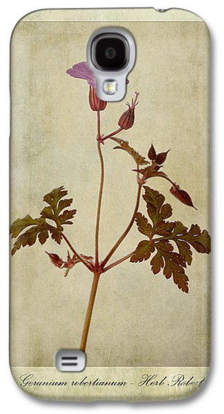 Weed Digital Galaxy S4 Cases - Geranium robertianum Galaxy S4 Case by John Edwards