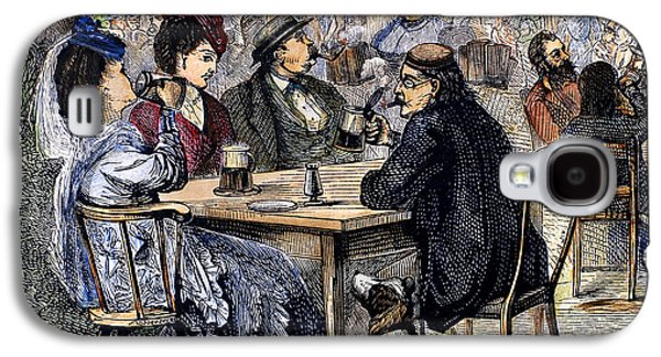 Tankard Galaxy S4 Cases - German Beer Garden, 1870 Galaxy S4 Case by Granger