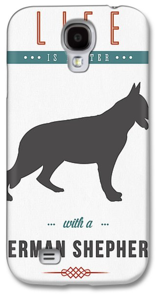 German Shepherd Galaxy S4 Cases - German Shepherd 01 Galaxy S4 Case by Aged Pixel