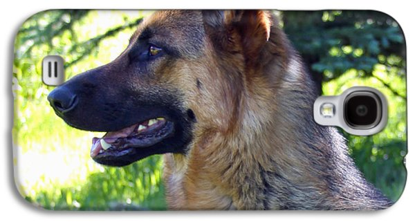 Working Breed Galaxy S4 Cases - German Shepherd Dog Female Galaxy S4 Case by Karon Melillo DeVega
