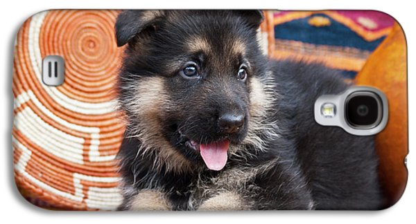 German Shepherd Puppy Lying Galaxy S4 Case by Zandria Muench Beraldo