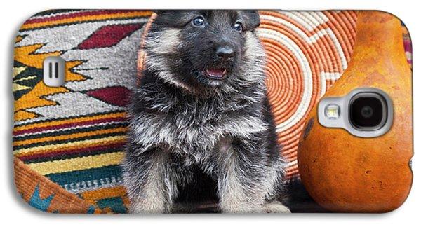 German Shepherd Puppy Sitting Galaxy S4 Case by Zandria Muench Beraldo