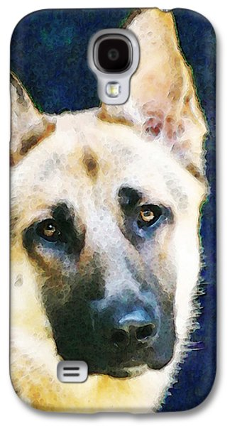 German Shepherd Galaxy S4 Cases - German Shepherd - Soul Galaxy S4 Case by Sharon Cummings