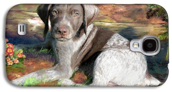 Working Dog Galaxy S4 Cases - German Shorthair Dog Painting Galaxy S4 Case by Enzie Shahmiri