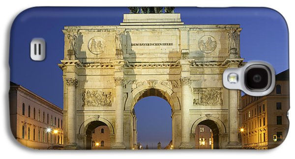 Old Roadway Galaxy S4 Cases - Germany Bavaria Munich Siegestor Galaxy S4 Case by Tips Images